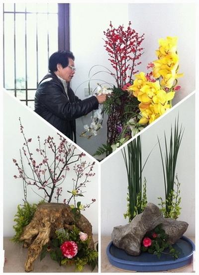 山茶花盆栽造型-2013迎春茶花展之茶花插花作品展示将延至元宵节后